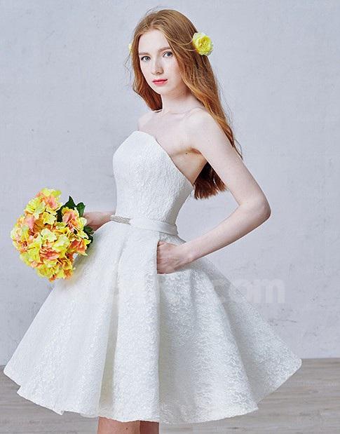 http://www.kisiri.com/24762-51595/lace-tulle-strapless-minishort-sleeveless-ball-gown-dress-with-rhinestone-sash.jpg