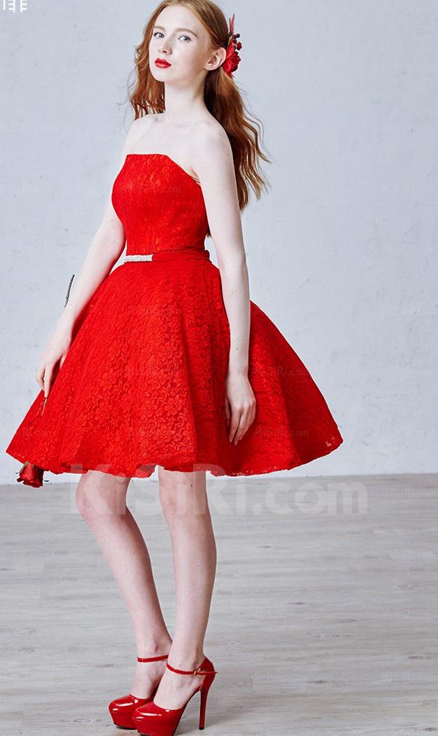 http://www.kisiri.com/24762-51598/lace-tulle-strapless-minishort-sleeveless-ball-gown-dress-with-rhinestone-sash.jpg
