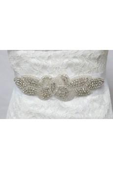 Luxurious Handmade Rhinestone Wedding Sash