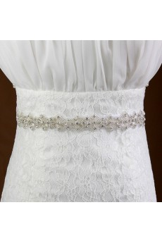Luxurious Handmade Yarn Rhinestone Wedding Sash