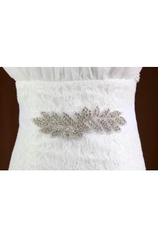 Handmade Yarn Rhinestone Wedding Sash