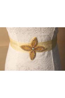 Handmade Colored Rhinestone Wedding Sash