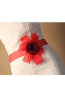 Handmade Fabric Flower Wedding Sash
