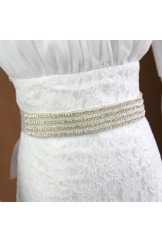 Handmade Satin Rhinestone Wedding Sash