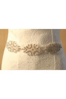 Handmade Rhinestone Wedding Sash