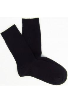 Black Combed Cotton Men's Socks