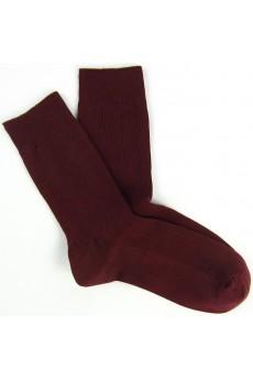 Dark Red Combed Cotton Men's Socks