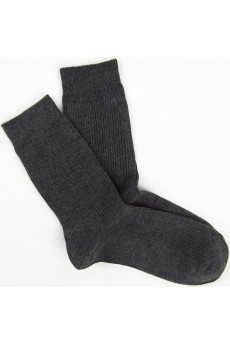 Dark Gray Combed Cotton Men's Socks