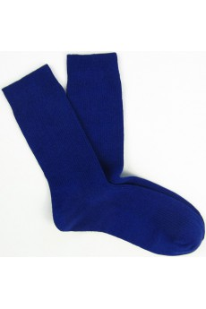 Navy Combed Cotton Men's Socks
