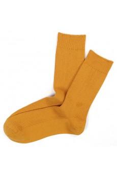 Yellow Combed Cotton Men's Socks