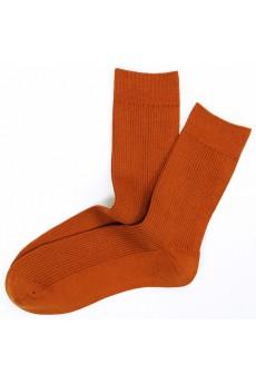 Orange Combed Cotton Men's Socks