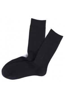 Gray Combed Cotton Men's Socks