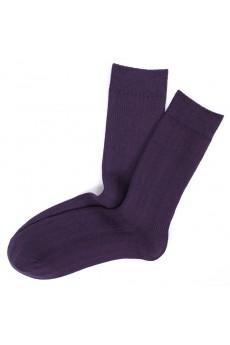 Plum Combed Cotton Men's Socks