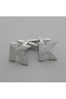 Men's Silver Metal Cufflink