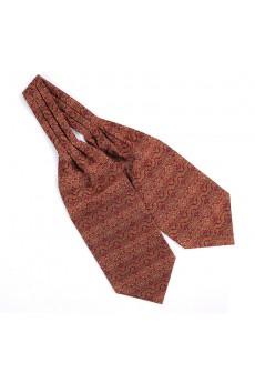 Men's Red Microfiber Cravat