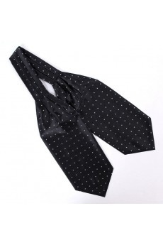 Men's Black Microfiber Cravat