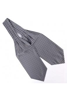 Men's Gray Microfiber Cravat