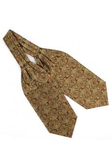 Men's Yellow Microfiber Cravat
