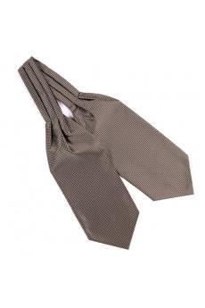 Men's Brown Microfiber Cravat