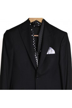 Men's Black Silk Cravat