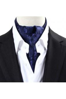 Men's Navy Blue Microfiber Cravat