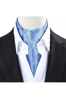Men's Blue Microfiber Cravat