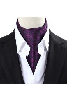 Men's Purple Microfiber Cravat