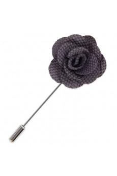 Men's Gray Microfiber Lapel Pins