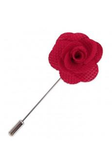 Men's Red Microfiber Lapel Pins
