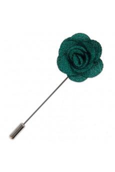 Men's Dark Green Microfiber Lapel Pins
