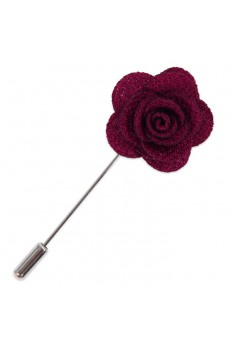 Men's Purple Microfiber Lapel Pins
