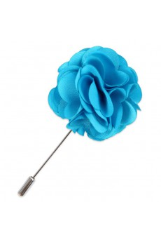 Men's Blue Microfiber Lapel Pins