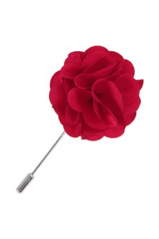 Men's Crimson Microfiber Lapel Pins