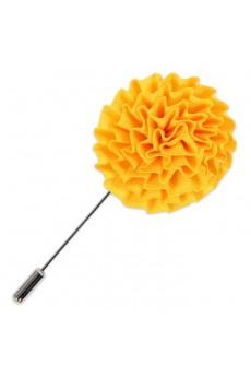 Men's Yellow Microfiber Lapel Pins
