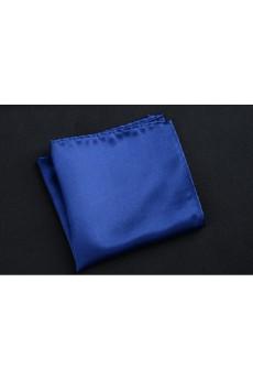 Blue Microfiber Pocket Square