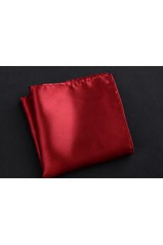 Red Microfiber Pocket Square