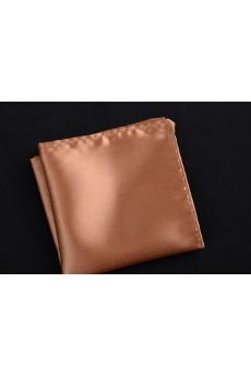 Beige Microfiber Pocket Square