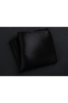 Black Microfiber Pocket Square