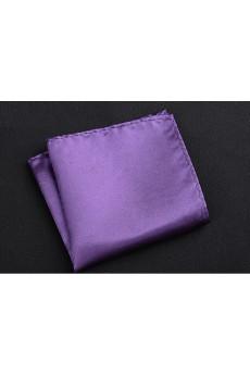 Purple Microfiber Pocket Square