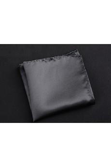 Gray Microfiber Pocket Square