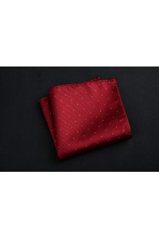 Wine Red Cotton-Microfiber Blended Pocket Square