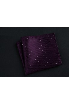 Purple Cotton-Microfiber Blended Pocket Square