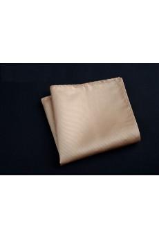 Beige Cotton-Microfiber Blended Pocket Square