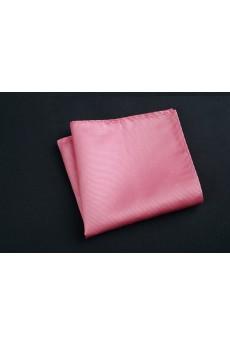 Pink Cotton-Microfiber Blended Pocket Square