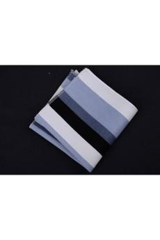 Blue Cotton, Linen Pocket Square
