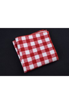 Red Cotton, Linen Pocket Square