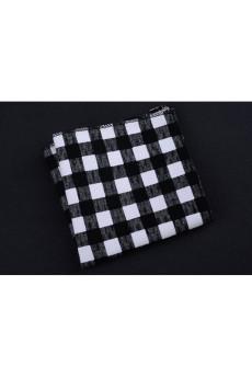 Black Cotton, Linen Pocket Square