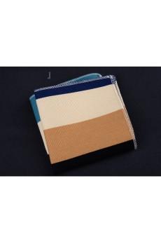 Beige Cotton, Linen Pocket Square