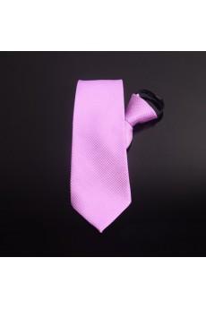 Pink Solid Microfiber Necktie