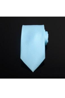 Green Striped Microfiber Necktie